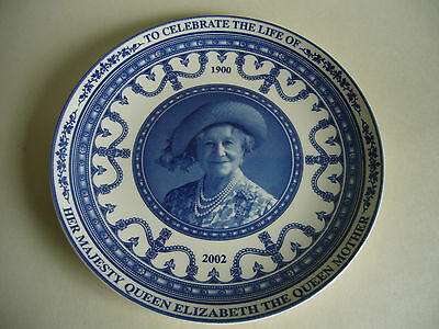 Queen Elizabeth The Queen Mother Collector Plate Wedgwood Boxed