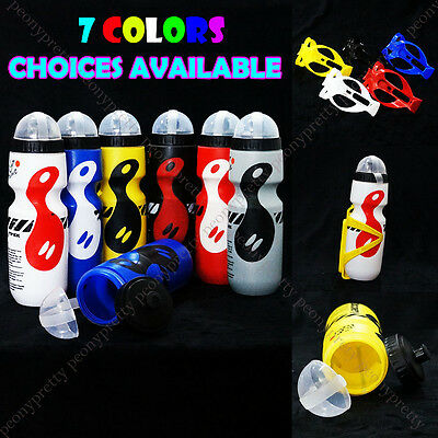7 Colors Outdoor Bike Bicycle Cycling 750ML Sports Drink Jug Water Bottle Holder