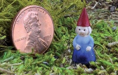 Miniature Micro Lady Girl  Gnome Pick GO 17421 Fairy Garden  Terrarium