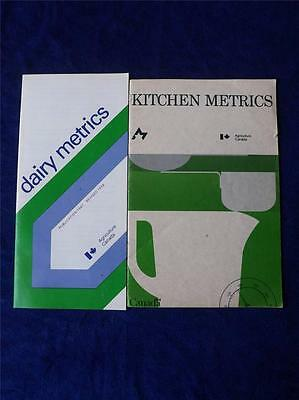 Dairy Kitchen Metrics Information Flyer Booklet Vintage 1977 Agriculture Canada