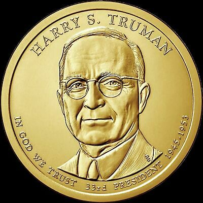 """2015 P Harry S. Truman Presidential Dollar """"Uncirculated"""" US Mint Coin"""