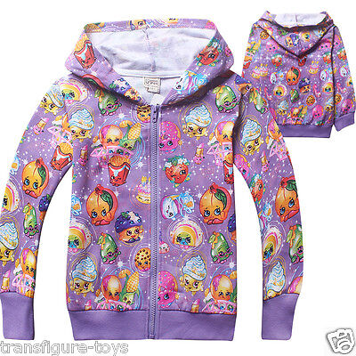 kids girls SHOPKINS clothing coat hoodie thin jacket tracksuit outfit size6-10 p
