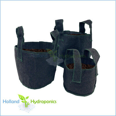 5x Hydroponic Growing Pots Smart Fabric Grow Bags Plant Container Pouch