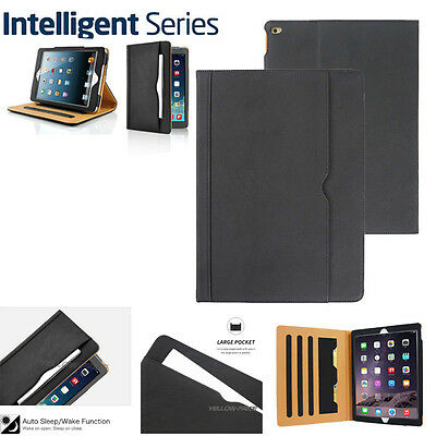 Soft Leather Wallet Smart Case Cover Sleep Wake Stand for iPad 2 3 Air/Mini/Pro