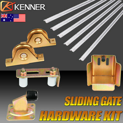 Sliding Gate Hardware Accessories Kit Track Wheels Stopper Roller Guide Opener