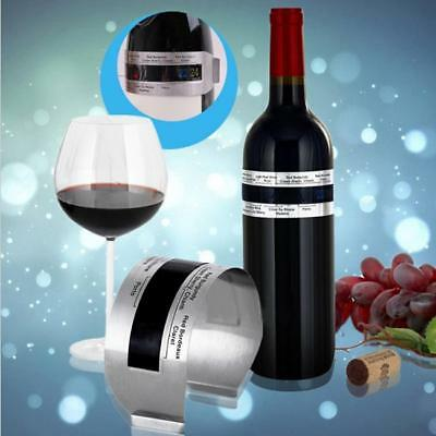 Stainless Steel LCD Digital Bracelet Wine Bottle Thermometer Temperature Meter