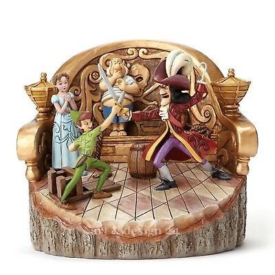 "ENESCO DISNEY Skulptur ""PETER PAN & CAPTAIN HOOK"" Jim Shore Figur 4048653 NEU !!"
