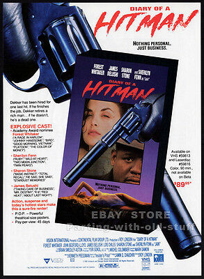 DIARY OF A HITMAN__Orig. 1992 Trade AD movie promo__FOREST WHITAKER_SHARON STONE