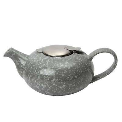 London Pottery Pebble Design Ceramic Teapot With Filter, 4 Cup, Flecked Grey
