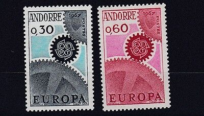 French Andorra  1967 S G F199 - F200  Europa Pair       M / N / H