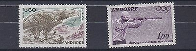 French Andorra  1972  S G F238 + F239 Nature Protection + Olympics   M / N / H
