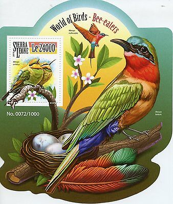 Sierra Leone 2015 MNH Bee-Eaters World of Birds 1v S/S Bee Eaters
