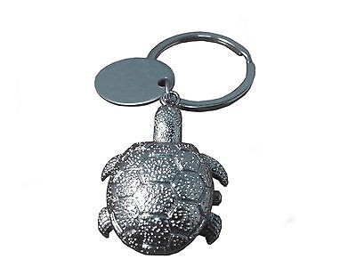 Custom engraved / personalised Turtle keyring watch in gift pouch - O8-slr-k