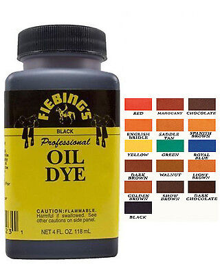 Fiebing's Professional Oil Leather Dye 118ml 4 oz (Original Brand)