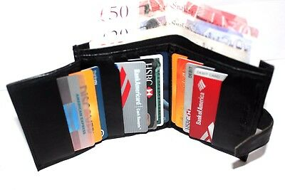 Unisex Black Soft Quality Leather Wallet, Credit Card,Id Holder Purse
