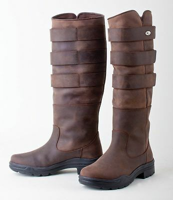 Rhinegold Elite Colorado Leather Riding Country Boot. With Adjustable Calf Width