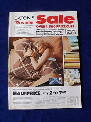 Eatons Vintage Department Store Catalogue1976 Winter Sale Clothes Furniture