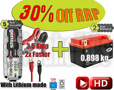Lithium Deal - Battery + 3.5A charger - Buell XB12X 1200  Ulysses- 2009