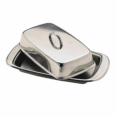 New Kitchen Craft Stainless Steel Butter Dish with Lid - KCBUT