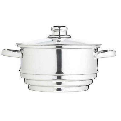 20cm Kitchen Craft Stainless Steel Universal Steamer - Fits Most Pans KCCVUNI