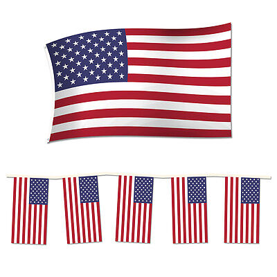 10 Metres Team USA American Triangle 4th July Independence Day Flag Bunting