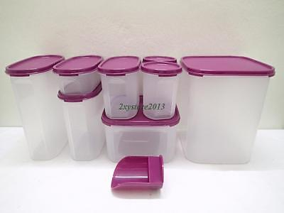 New Tupperware Modular Mates 8 Pcs Oval, Square, Round Mix Set With Free Gift