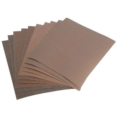 """NEW 10 Assorted Sheets 9"""" x 11"""" Grits Sandpaper"""