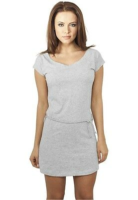 Urban Classics Ladies Slub Jersey Dress grau in Größe XS-XL