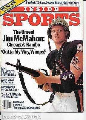Jim McMahon  Signed / autographed  Photo Inperson Bears 1986 Inside Sports  Mag.