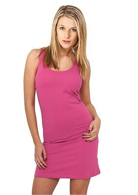 Urban Classics Ladies Sleeveless Dress fuchsia in Größe XS-XL