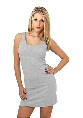 Urban Classics Ladies Sleeveless Dress grau in Größe XS-XL