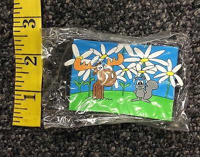 TM & 1994 Ward Prod Rocky and Bullwinkle Rubber Magnet New in Sealed Packaging