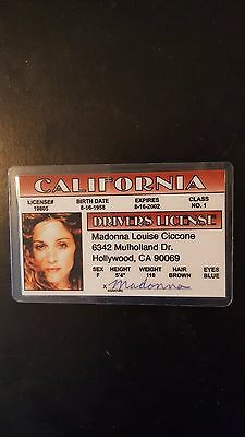 Vintage Madonna Novelty Drivers License Funny Concert Tour Virgin Prayer Sex MTV