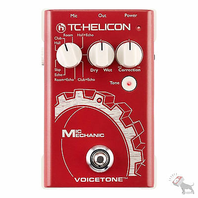 TC Helicon Mic Mechanic Vocal Reverb Pitch Correction Delay Effects Pedal