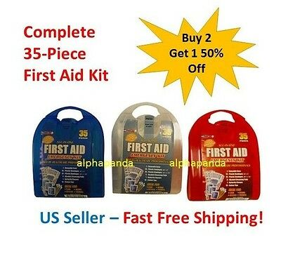 35-Piece First Aid Kit Survival Emergency Hiking Camping Medical Car Bug Out Bag