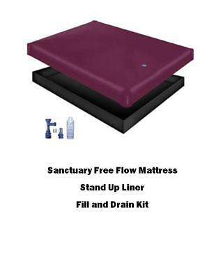 Free Flow waterbed Mattress, Liner and a Fill and Drain Kit Bundle FREE SHIP