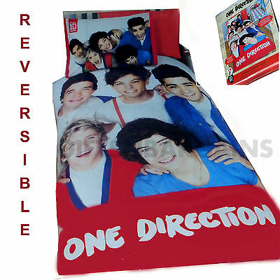 One Direction 1D Craze 'Reversible' Single Bed Quilt / Doona Cover Set