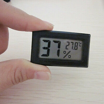 Mini Indoor Temperature Humidity Meter Digital LCD Thermometer Hygrometer Hot UK