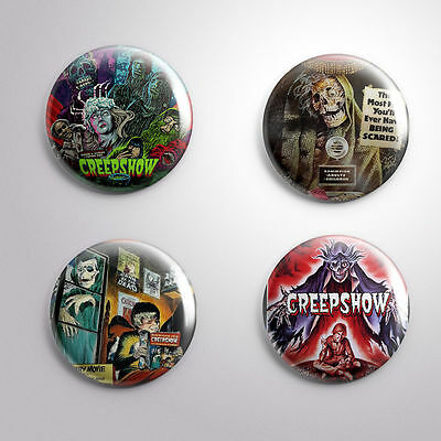 "4 CREEPSHOW HORROR CULT FANTASY  MOVIE 1982 - Pinbacks Badges Buttons 1"" 25mm"