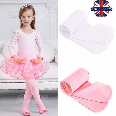 UK 120 Denier Kids Child Girls Ballet Tap Modern Dance Tights Dancewear 3-9 Ages