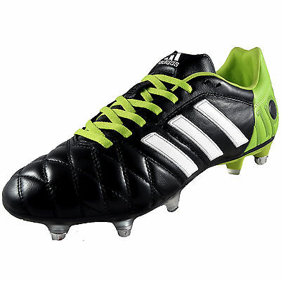 Adidas Mens AdiPure 11 Pro XTRX SG Football Boots Black *AUTHENTIC*