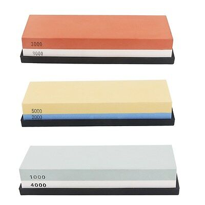 2000/5000 Double-Sided Sharpening Stone Waterstone Grindstone With Plastic Stand