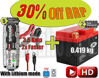 Lithium Deal - Battery + 3.5A charger - KTM EXC 450  - 2005