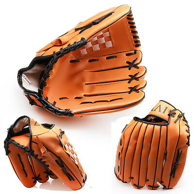 "Durable 10.5"" & 12.5'' Baseball Glove Softball Mitts Outdoor Sports Left Hand"