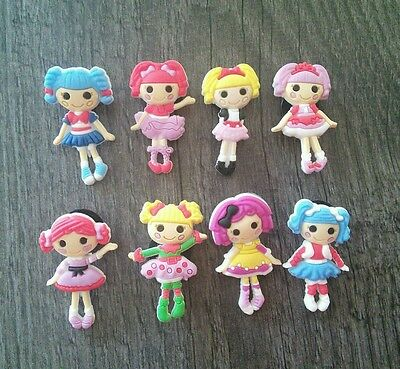 LALALOOPSY 8 Shoe Charms Jibbitz Crocs Accessories Cake topper - New