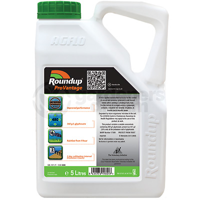 Roundup ProVantage 480 Glyphosate Weedkiller 1 x 5 Litre Strong Professional
