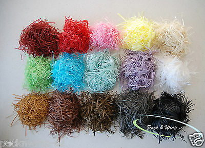 Shredded Hamper Paper Soft shred gift box basket filler pack raffia colour bulk