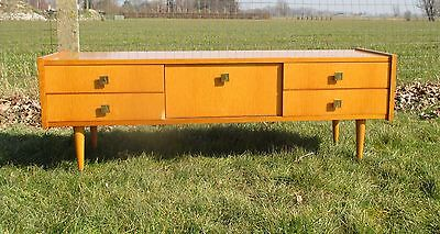 Vintage Vanity Dresser Bedroom Cabinet  Mid Century Modern Marked  Sicame