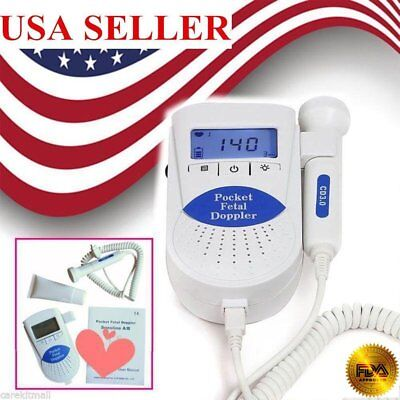 Sonoline B Fetal doppler /Backlight LCD, baby heart monitor, 3mhz probe+ Gel FDA