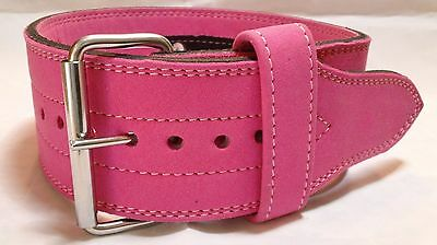 Pink 1 prong 10mm Powerlifting Belt - USAPL IPF Legal